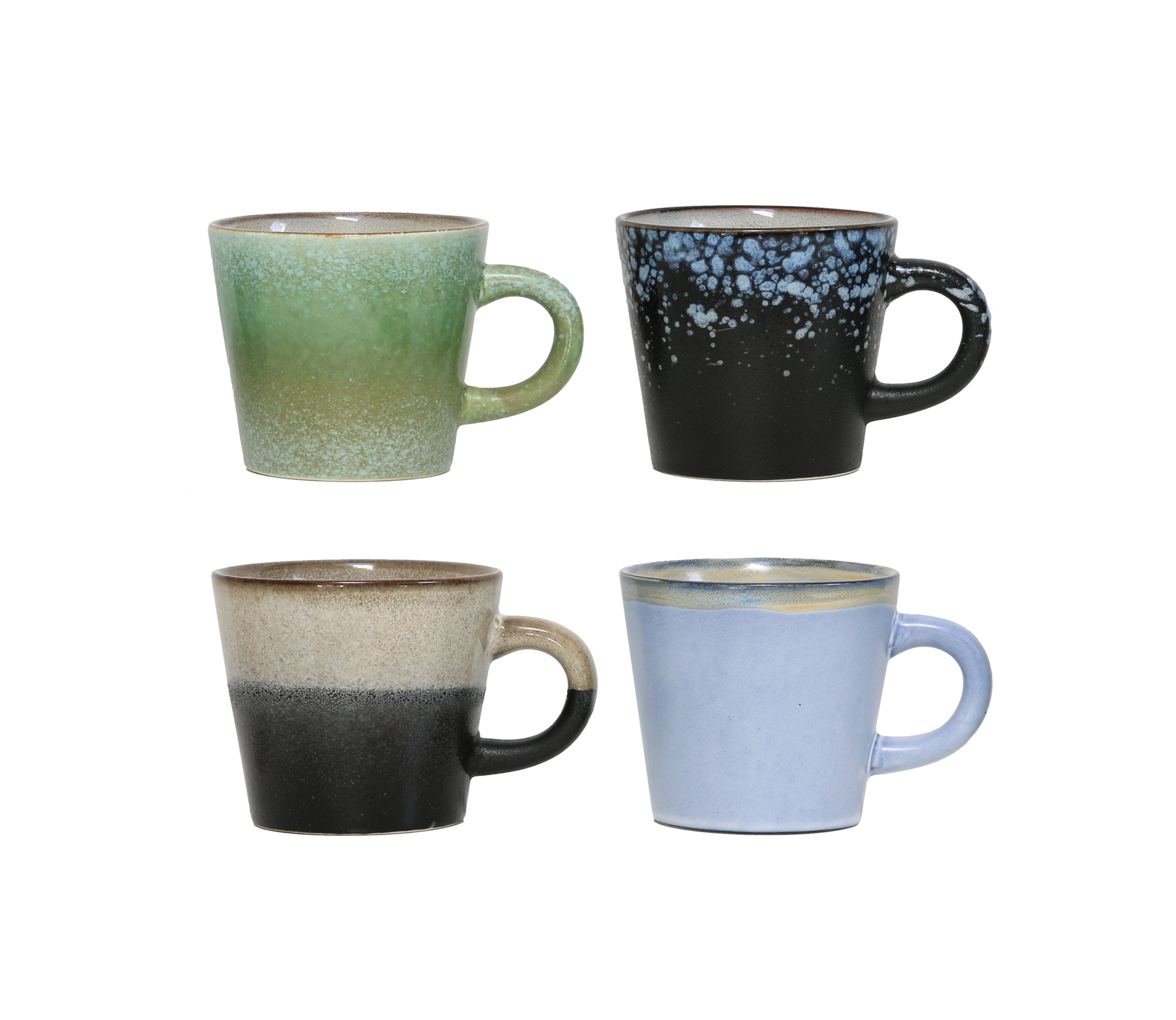 HKLiving Cappuccino mokken keramiek (set van 4) Multi