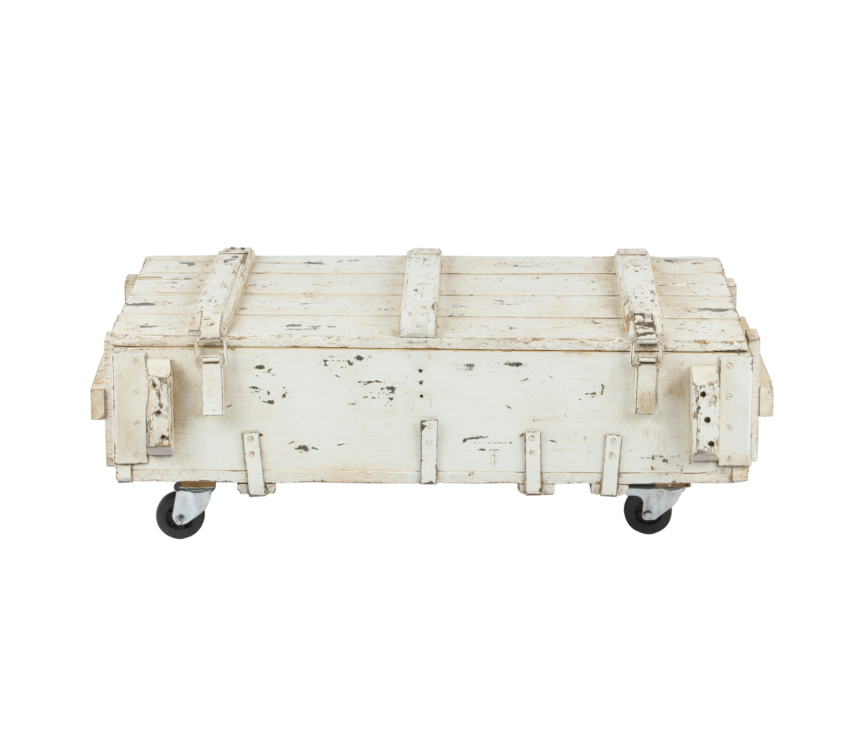 vtwonen Army salontafel 104 x 50 x 38 cm wit Vintage wit