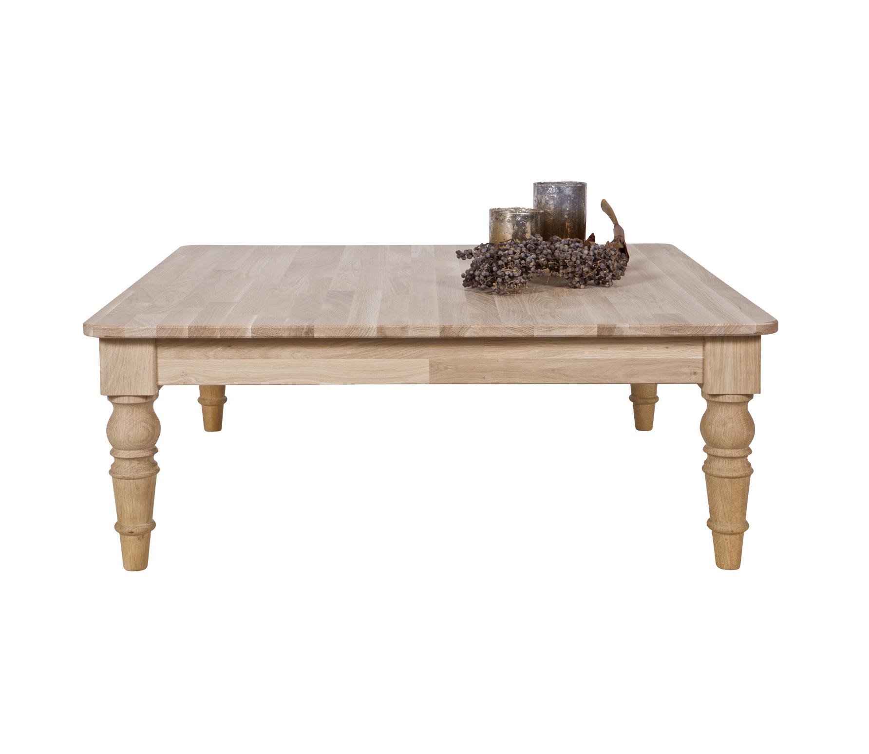 WOOOD Qwint salontafel 98 x 98 x 38 cm massief eiken Onbehandeld