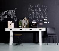 vtwonen sidetable bureau wit met 4 lades Wit