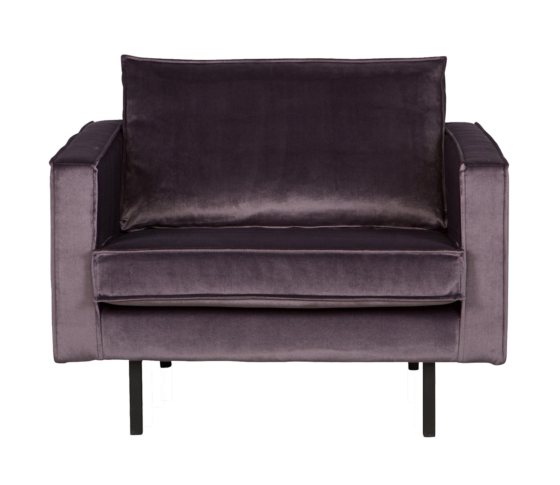 BePureHome Rodeo loveseat 1,5-zits fauteuil donkergrijs velvet