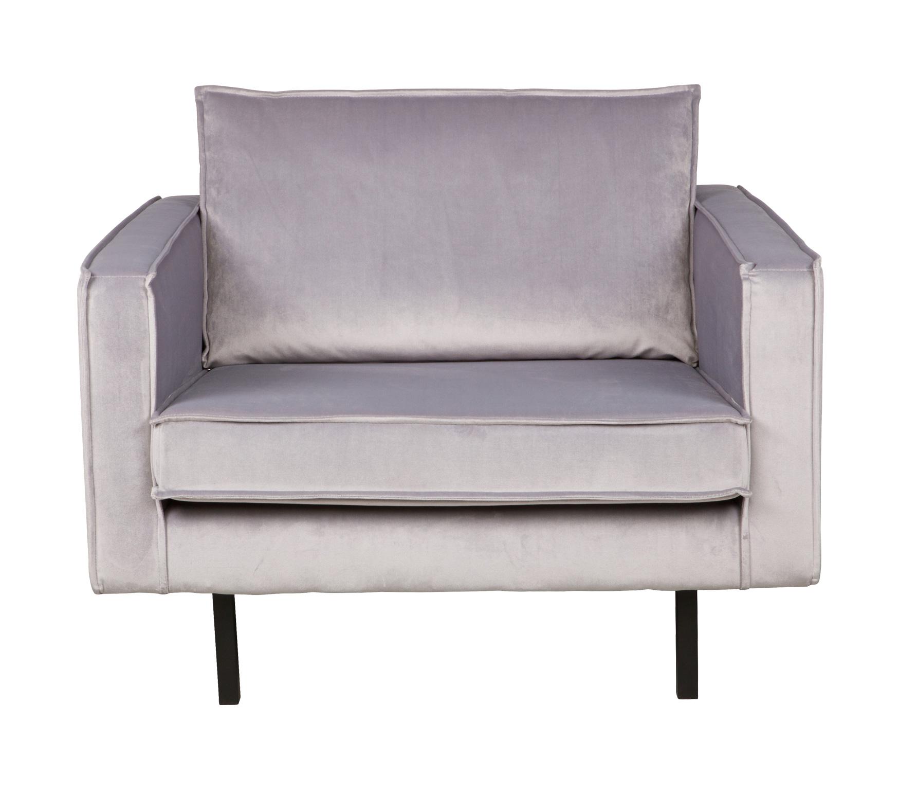 BePureHome Rodeo loveseat 1,5-zits fauteuil lichtgrijs velvet