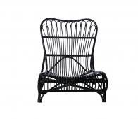 House Doctor Colone lounge fauteuil zwart bamboe  Zwart