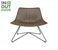 WOOOD Otis (binnen-buiten) fauteuil bruin Bruin