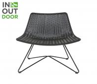 WOOOD Otis (binnen-buiten) fauteuil zwart Zwart