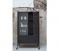 BePureHome Steel storage vitrinekast 184x105x40 cm metaal Zwart
