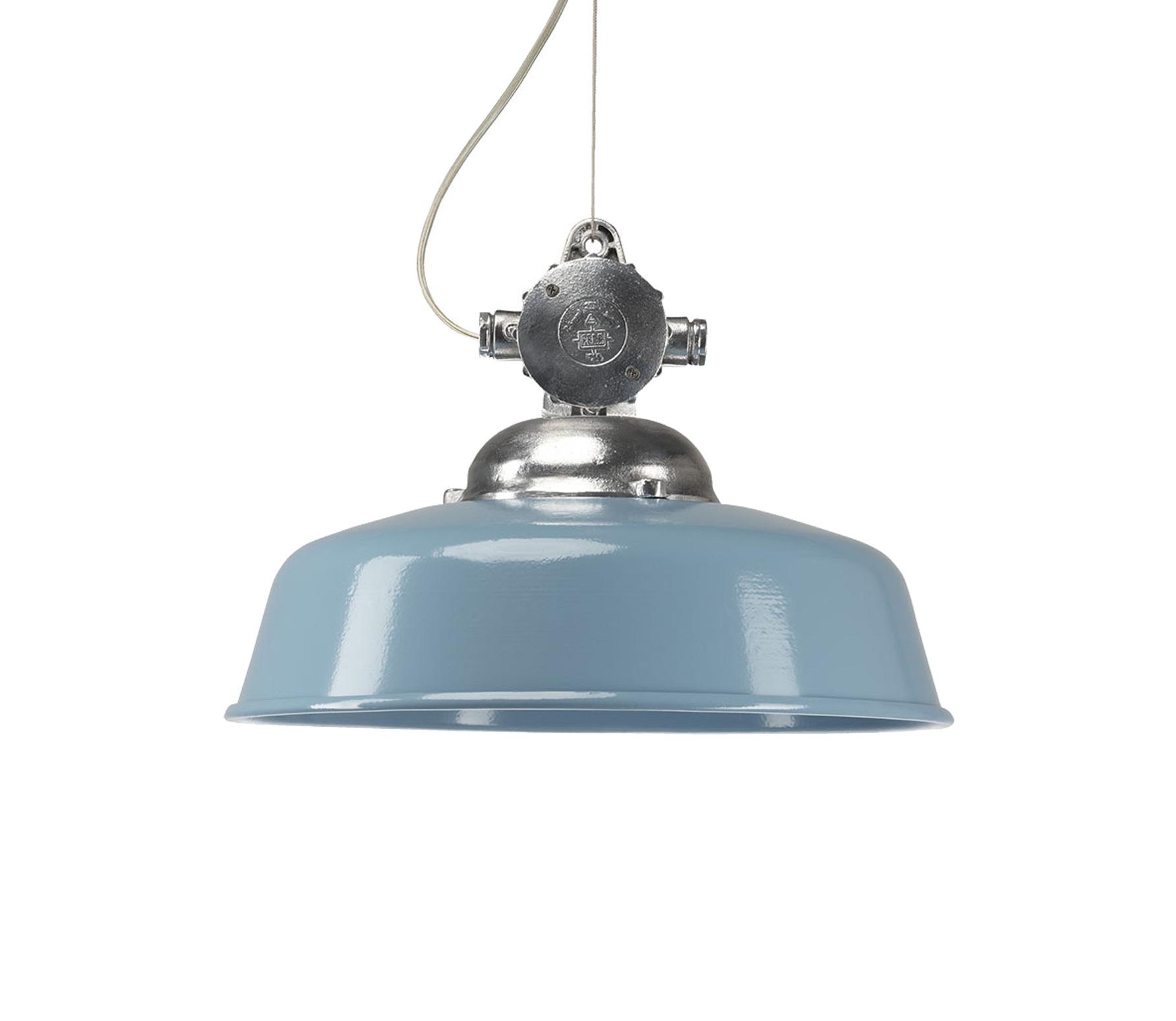 KS Verlichting Detroit Retro hanglamp Ø 40 cm aluminium blauw wordt ...