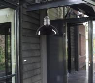 Old industrie hanglamp Ø 45 cm zwart Onbehandeld/zwart