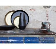 BePureHome Iron lady schaal/dienblad mat zwart metaal Ø 55 cm Zwart