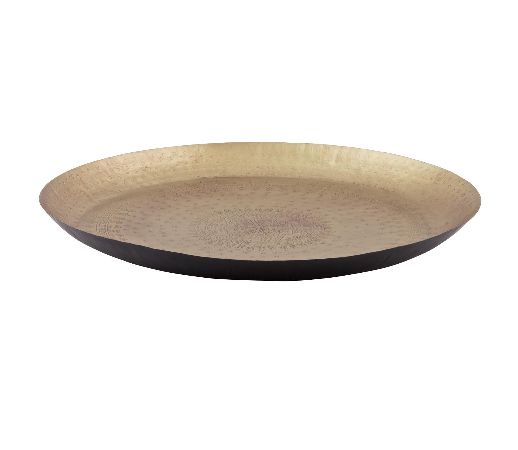 BePureHome Iron lady schaal/dienblad ø55 cm mat brass metaal