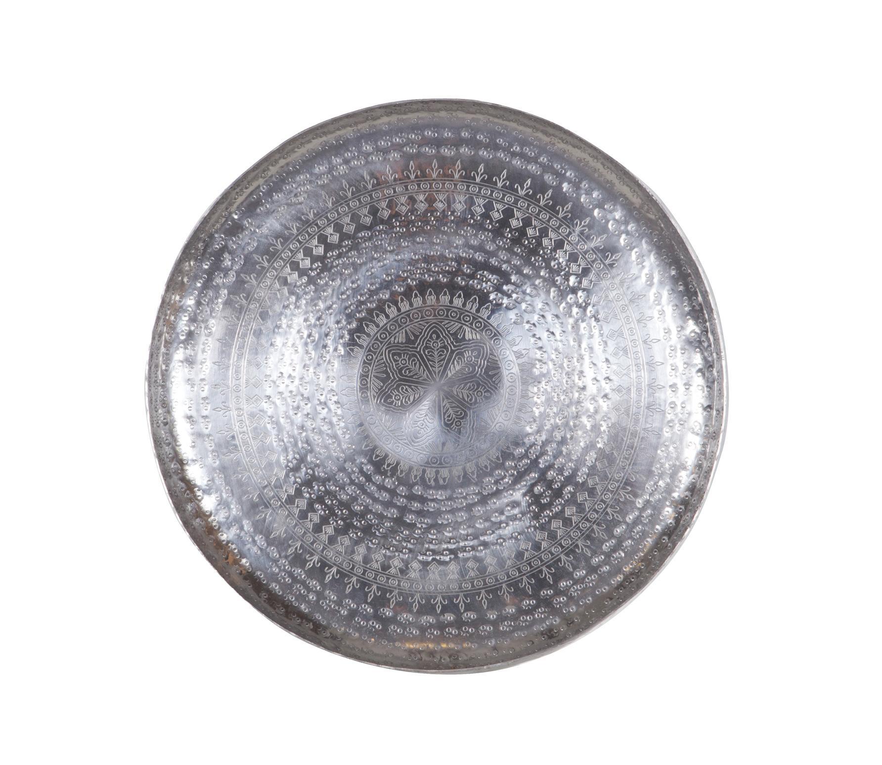 BePureHome Ibiza schaal - dienblad zilver metaal Ø 44 cm Zilver