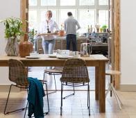 WOOOD Karlijn teak houten eettafel 200x90 cm Onbehandeld