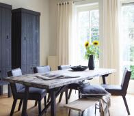 BePureHome Craft eettafel grenen zwart gelakt Grenen gevlekt 220x90 cm