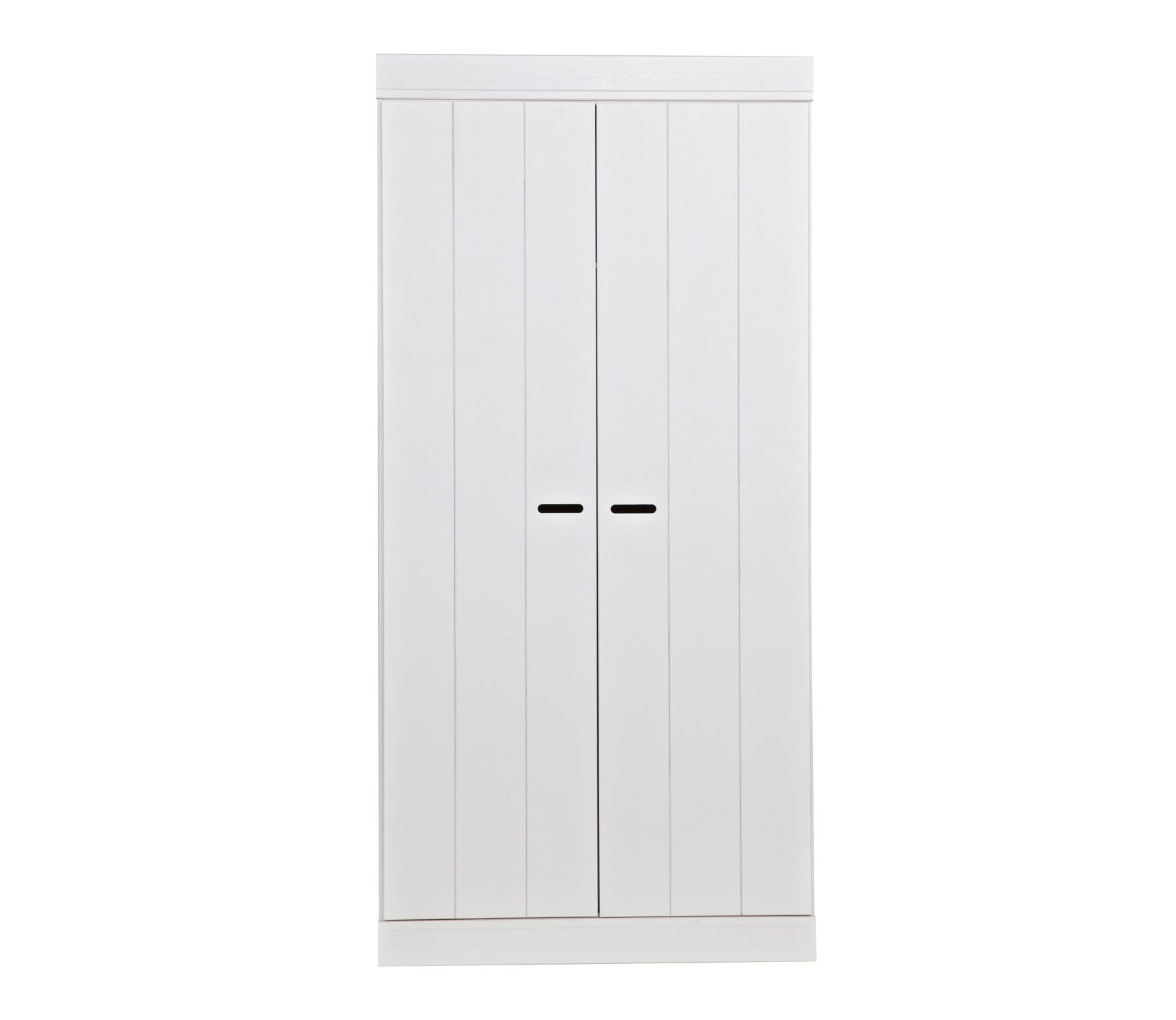 WOOOD Connect 2-deurs kast 195x94x53 cm met sleufgrepen Wit