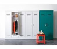 WOOOD Connect 2-deurs kast 195x94x53 cm met metalen grepen Wit
