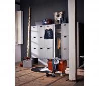 vtwonen Store junior garderobekast 185x119x56 cm grijs Hertog grijs
