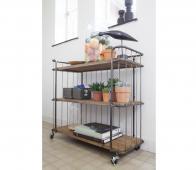BePureHome Giro trolley/bakkerskar 89x94x41 cm vintage  metaal/hout