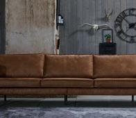 BePureHome Rodeo 3-zits bank cognac recycle leer Cognac