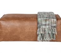 BePureHome Rodeo hocker cognac recycle leer Cognac