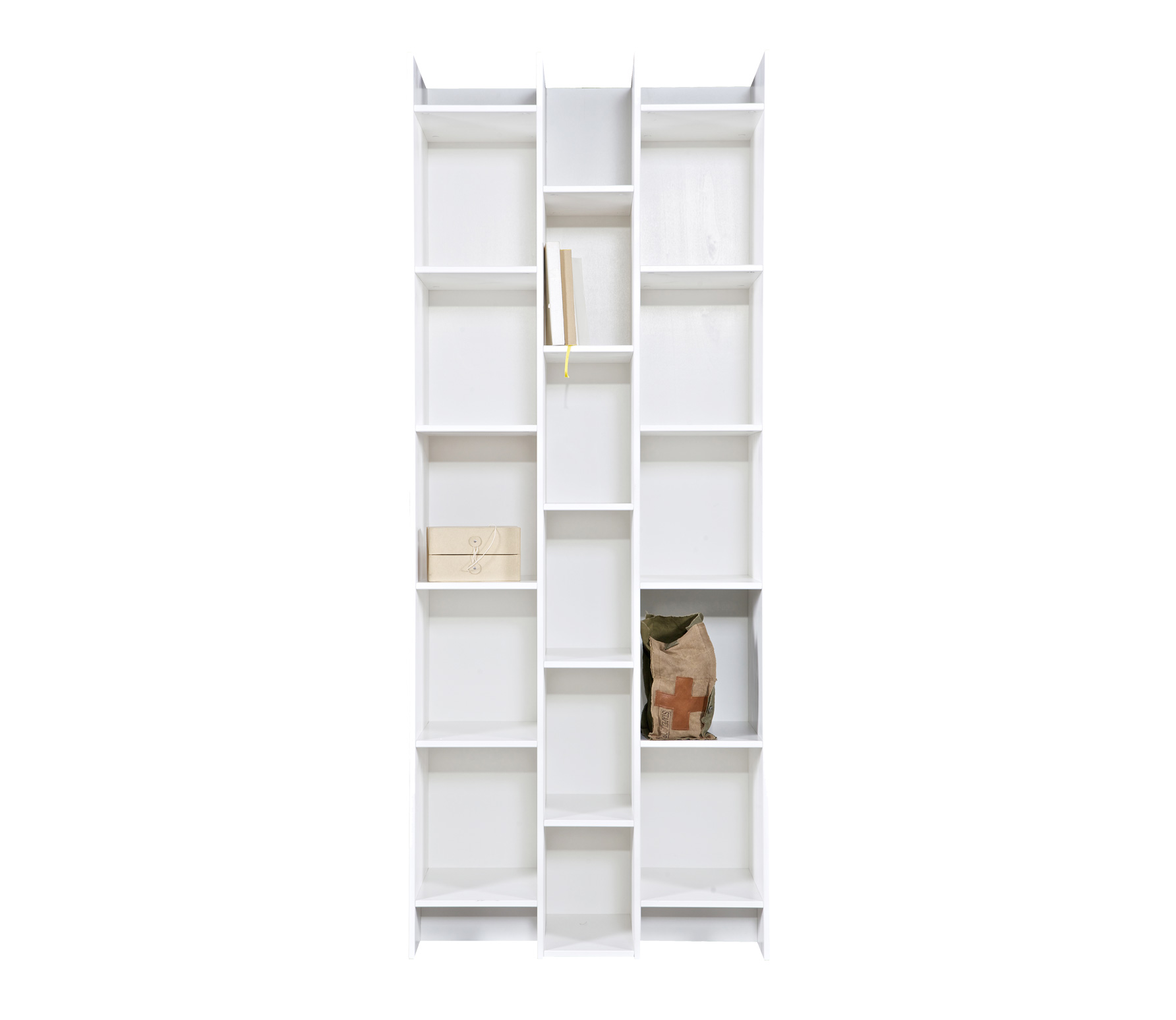 woood expand boekenkast vakkenkast 200x80x35 cm grenen wit