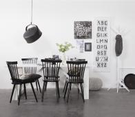 WOOOD Studio staande kapstok, wit of zwart Wit