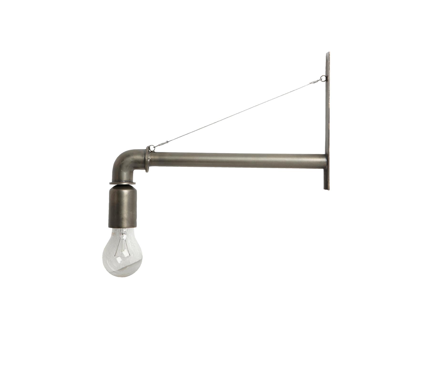 House Doctor Pipe metalen wandlamp mat zilverkleur Zilver