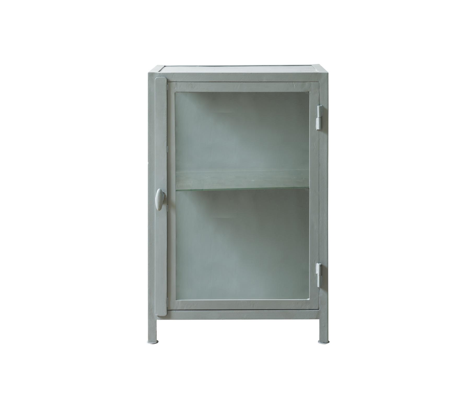 Beroemd vtwonen Show lage vitrinekast 90x60x40 cm jade groen metaal wordt  &OQ04