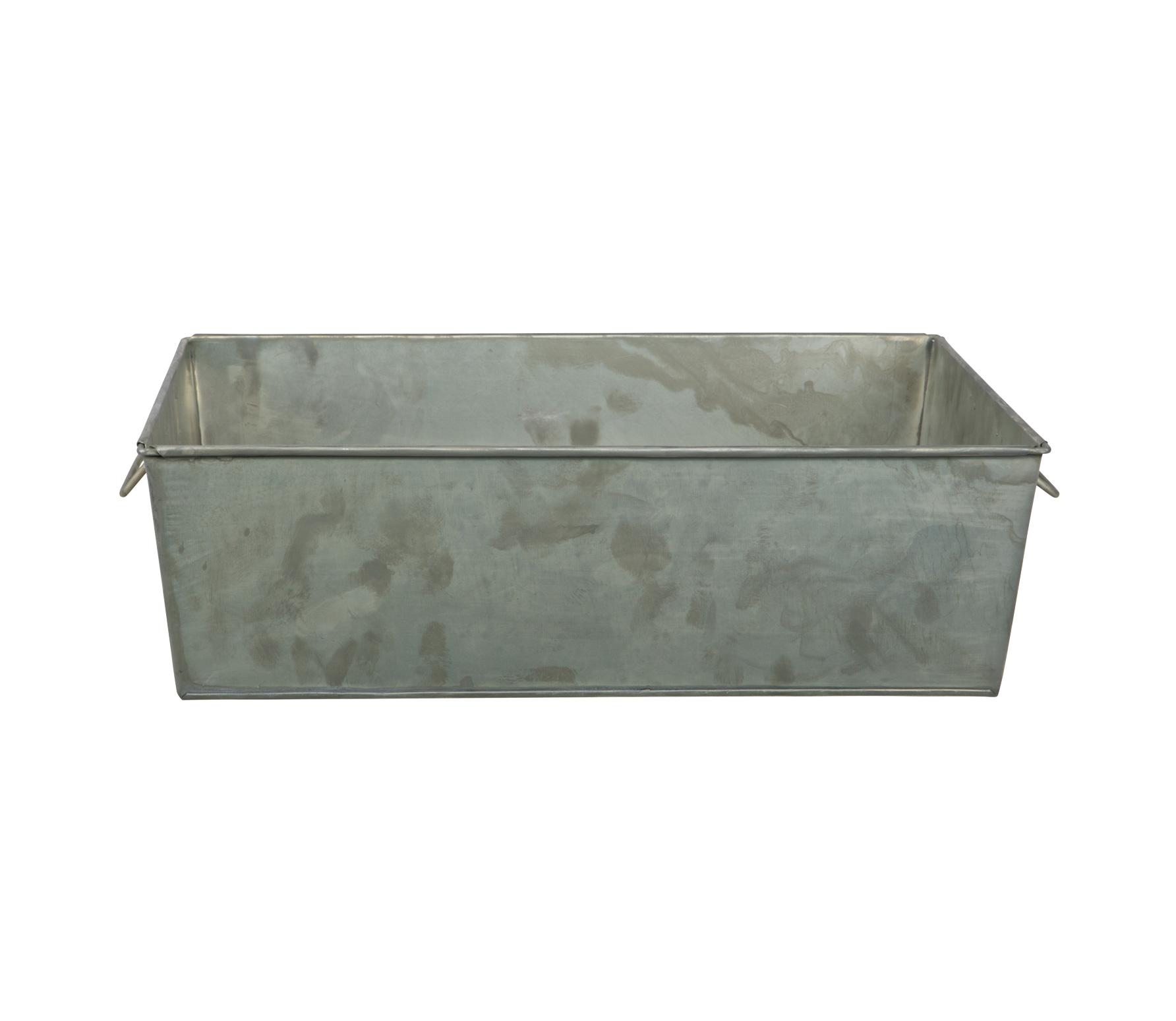 BePureHome Crate opbergbak zink Zink