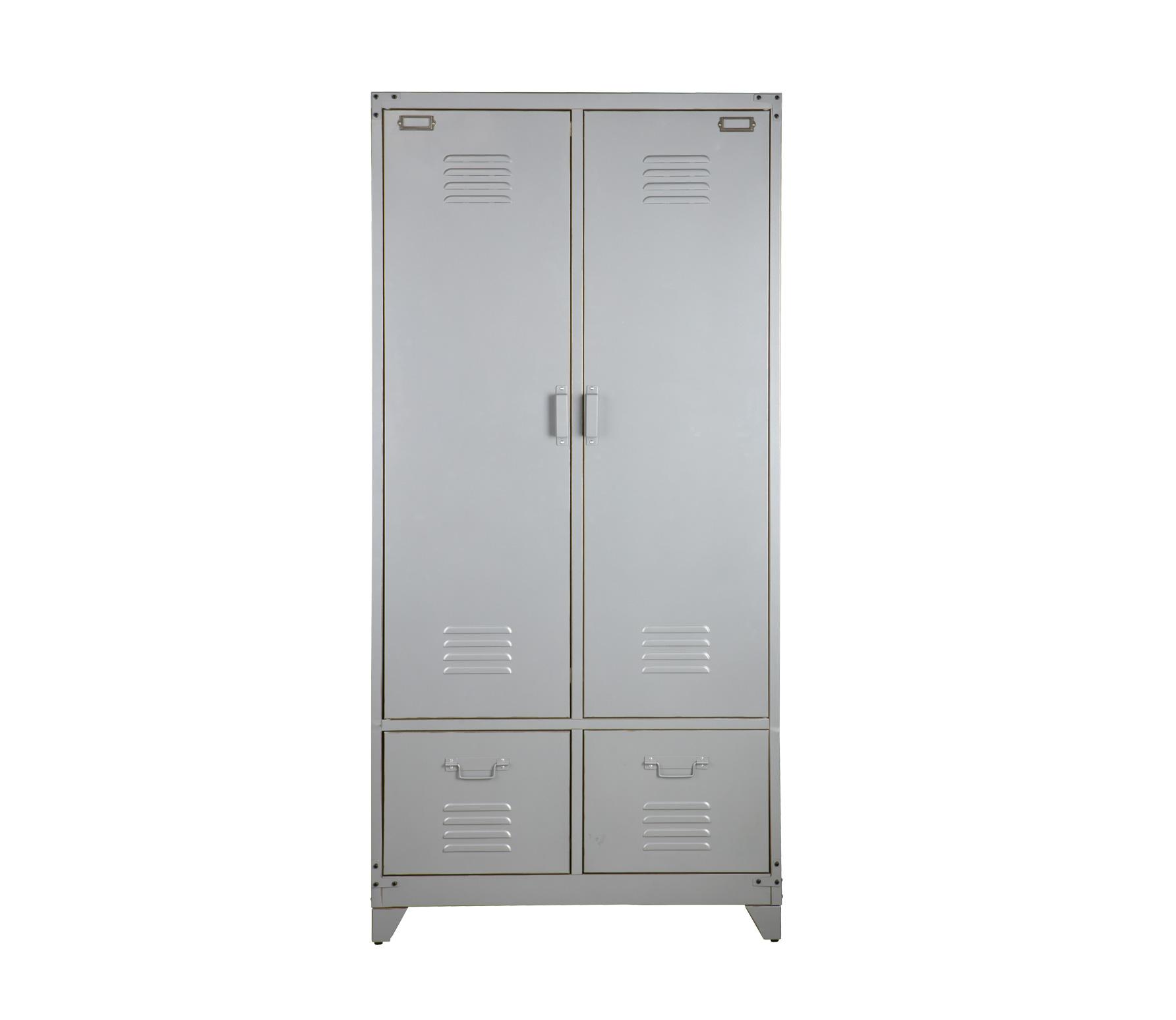 vtwonen Safe lockerkast 190x90x50 cm zilvergrijs metaal Zilvergrijs