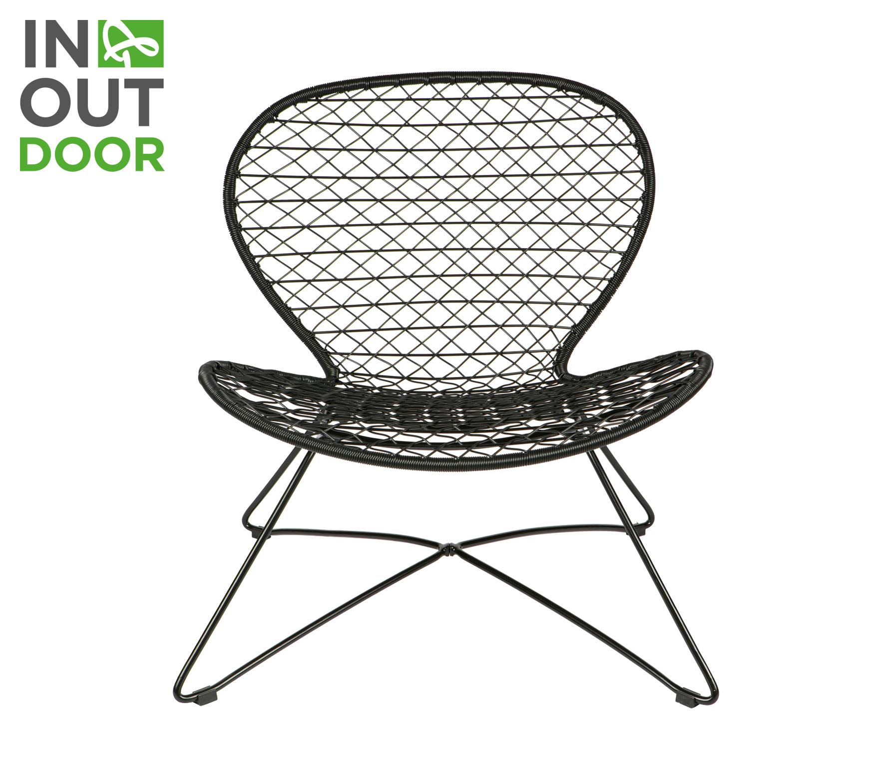 BePureHome Quadro (buiten) fauteuil zwart vrijstaand