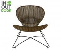 WOOOD Ole (binnen-buiten) fauteuil bruin Bruin
