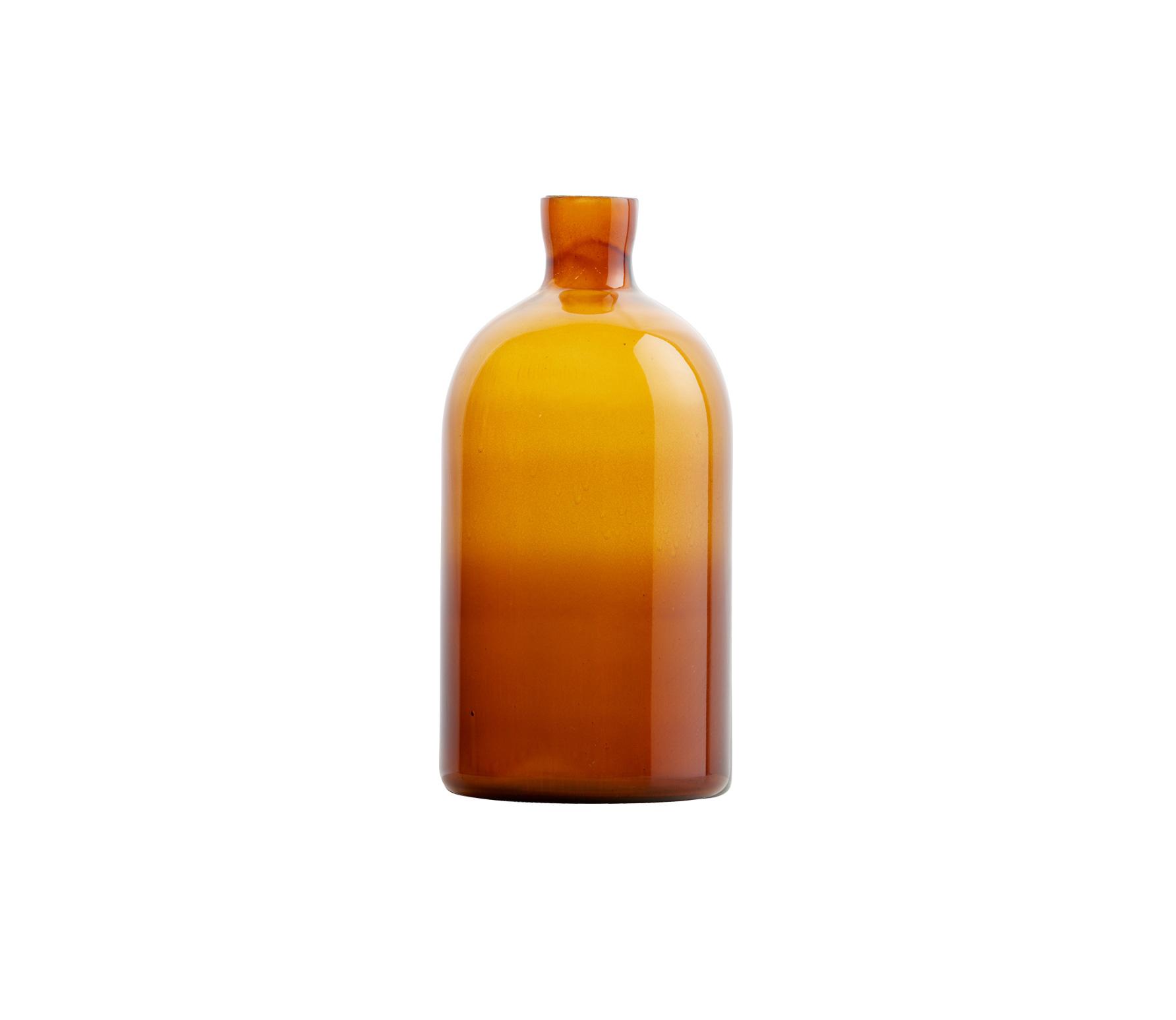 BePureHome Chemistry glazen vaas Large bruin Bruin
