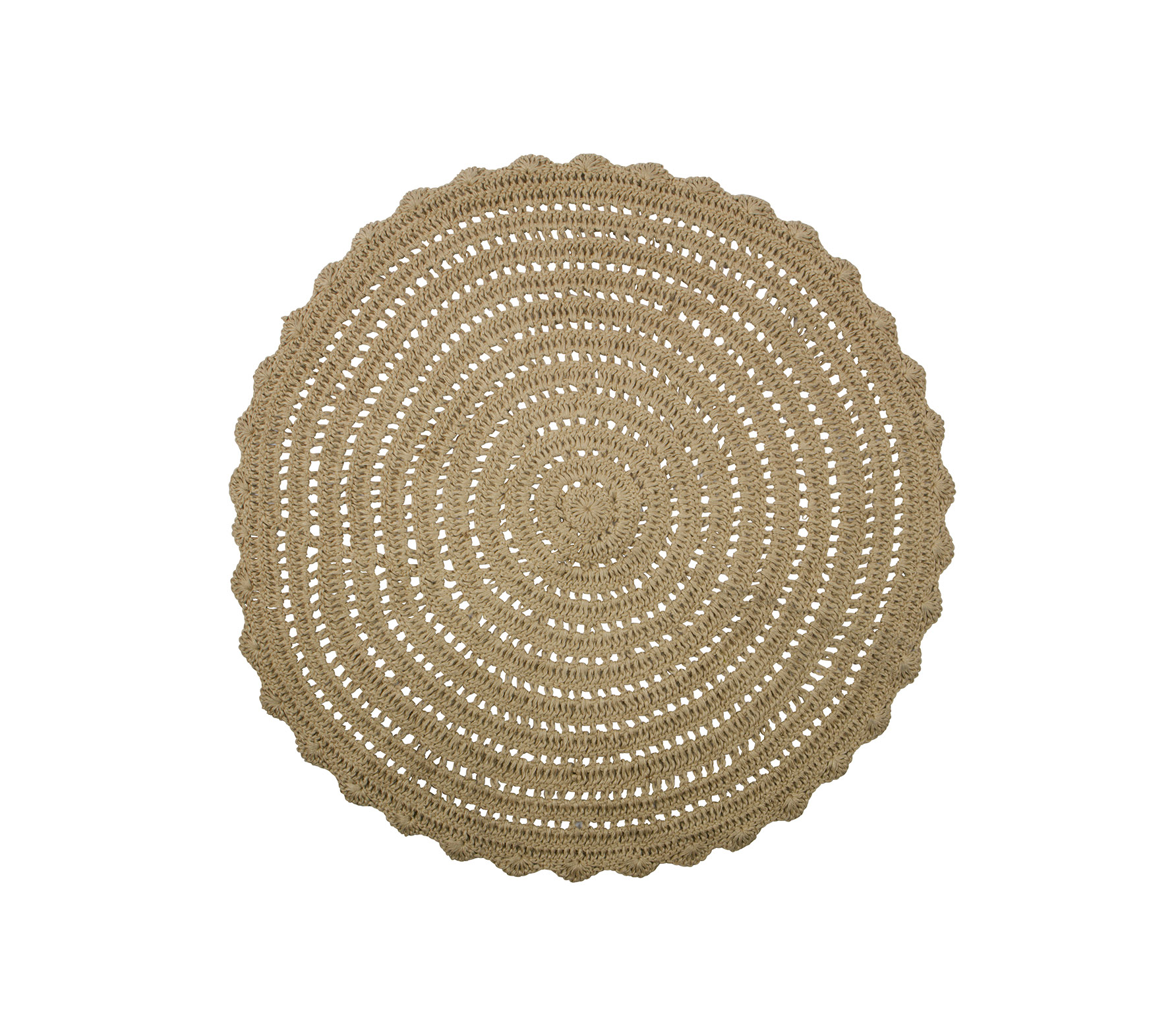 BePureHome Corn Circle vloerkleed crochet rond VS01