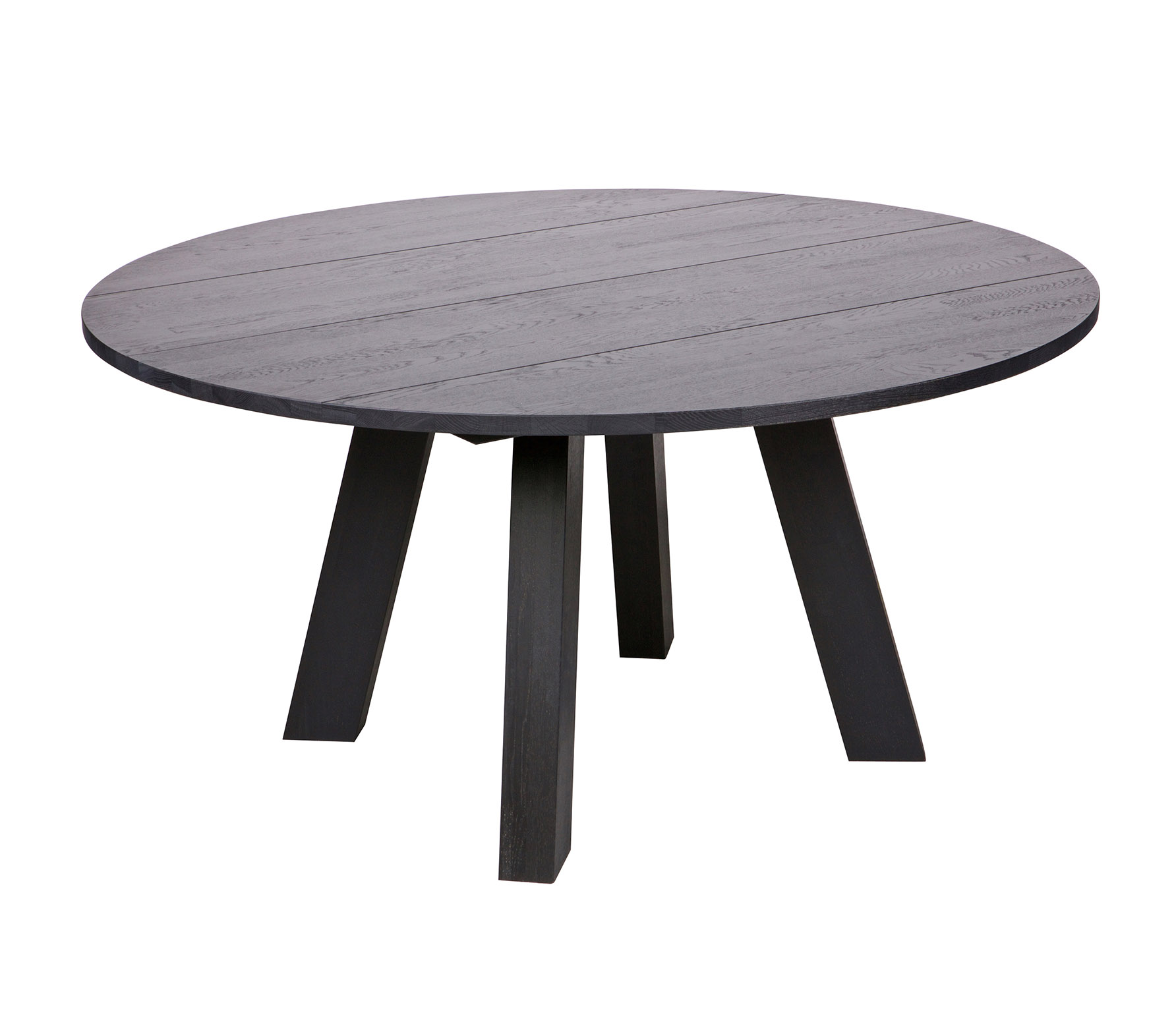 WOOOD Rhonda eettafel XL blacknight eiken Ø 150 cm VS 01