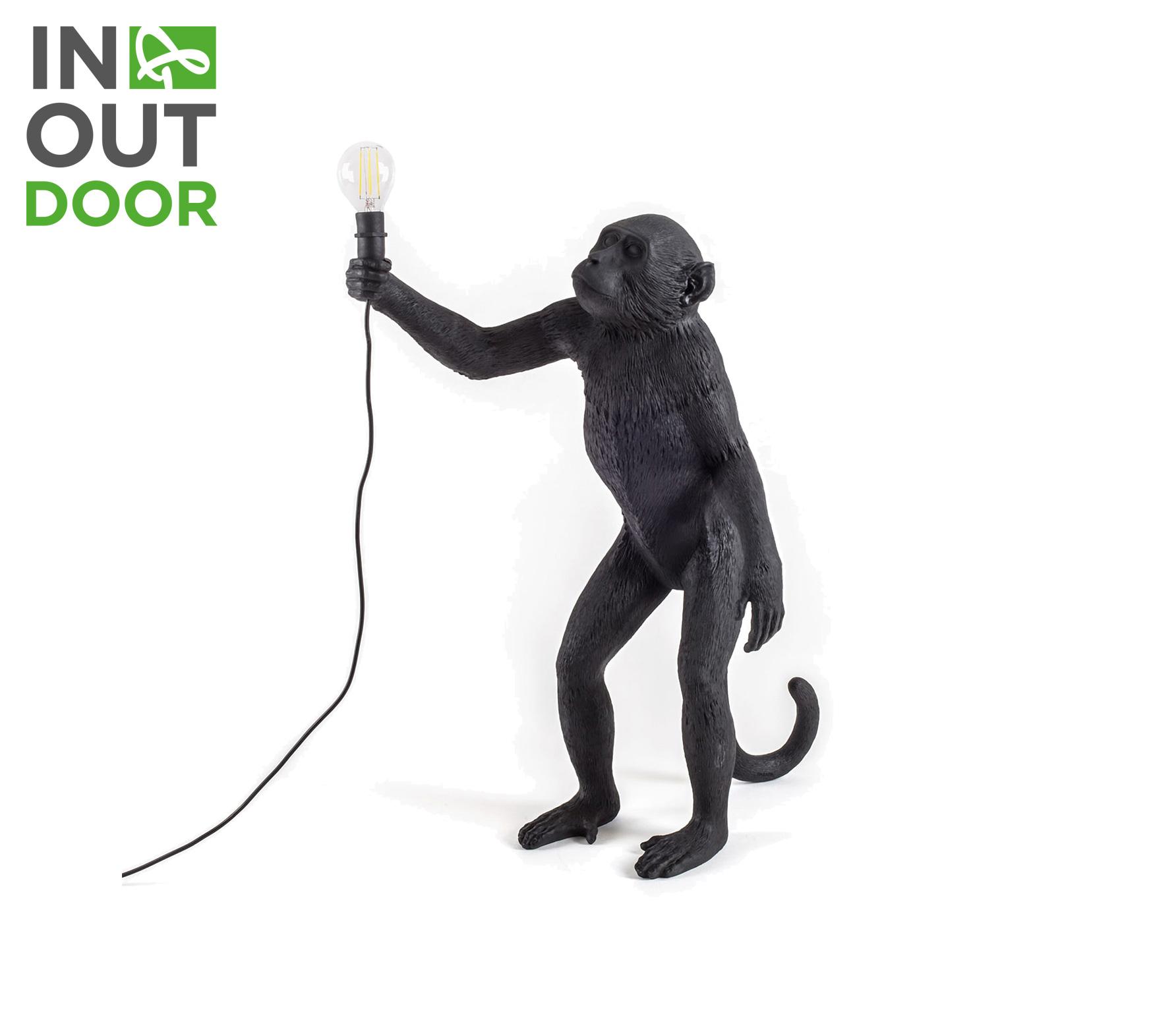 Seletti Monkey lamp zwart staand VS 01
