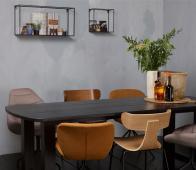 BePureHome Form houten stoel met metaal, naturel Naturel