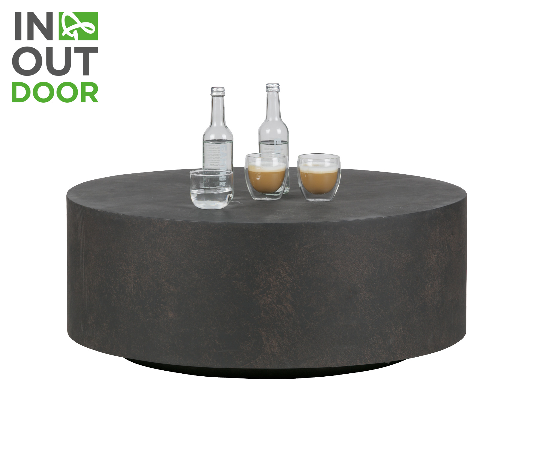 WOOOD Dean salontafel beton large bruin vrijstaand