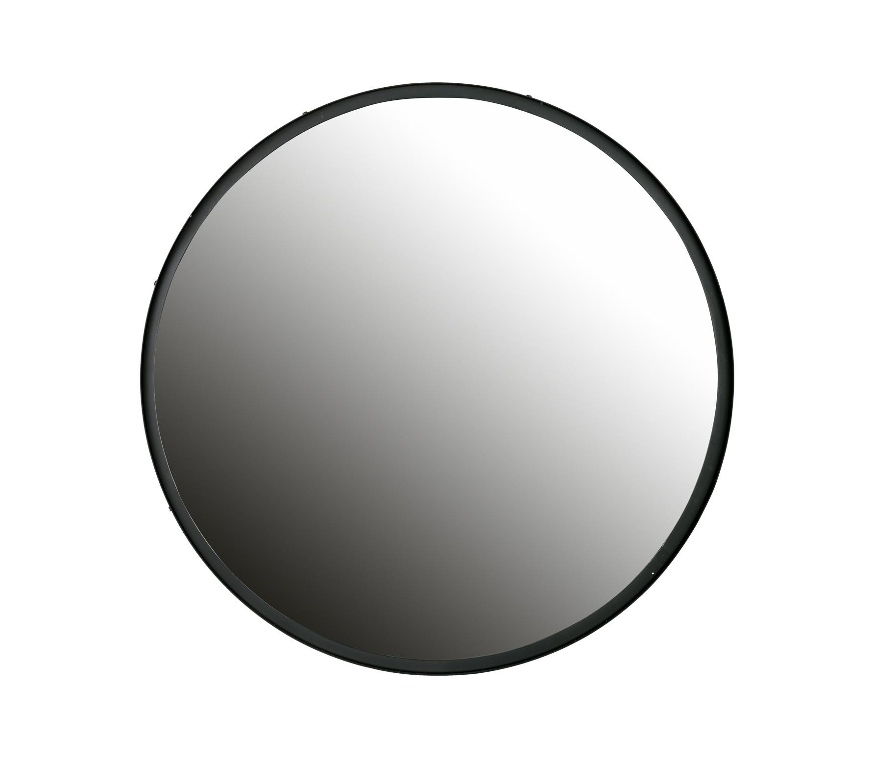 WOOOD Lauren spiegel XL metaal zwart Ø 80 cm