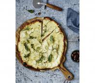 Nicolas Vahe set snijplank met pizzames Acaciahout-RVS