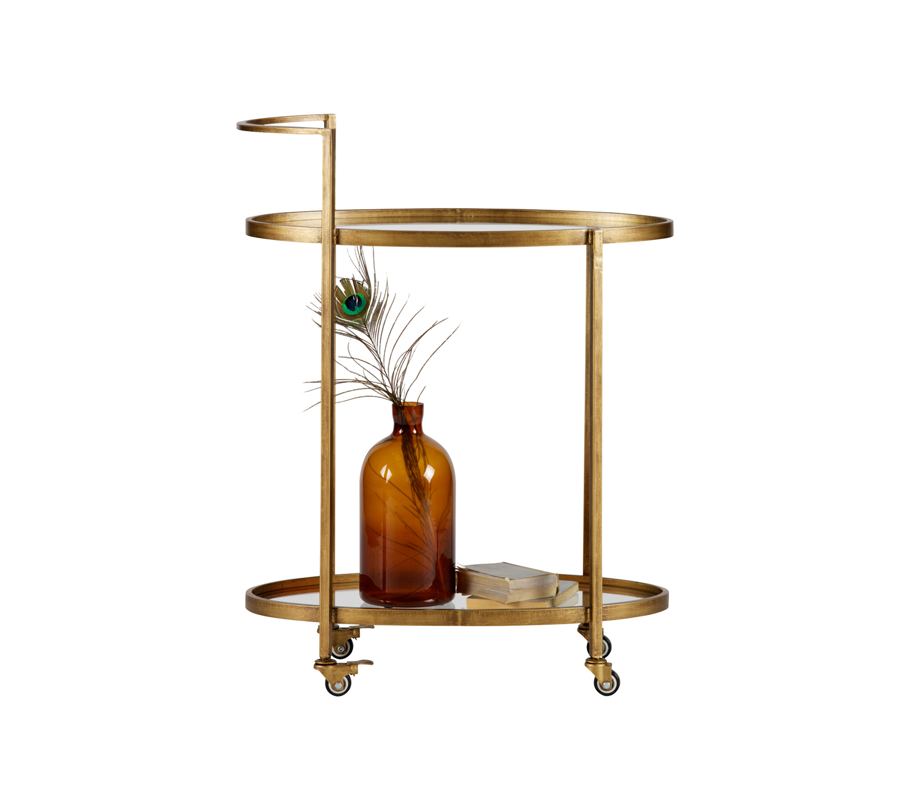 BePureHome Push trolley antique brass Antique brass