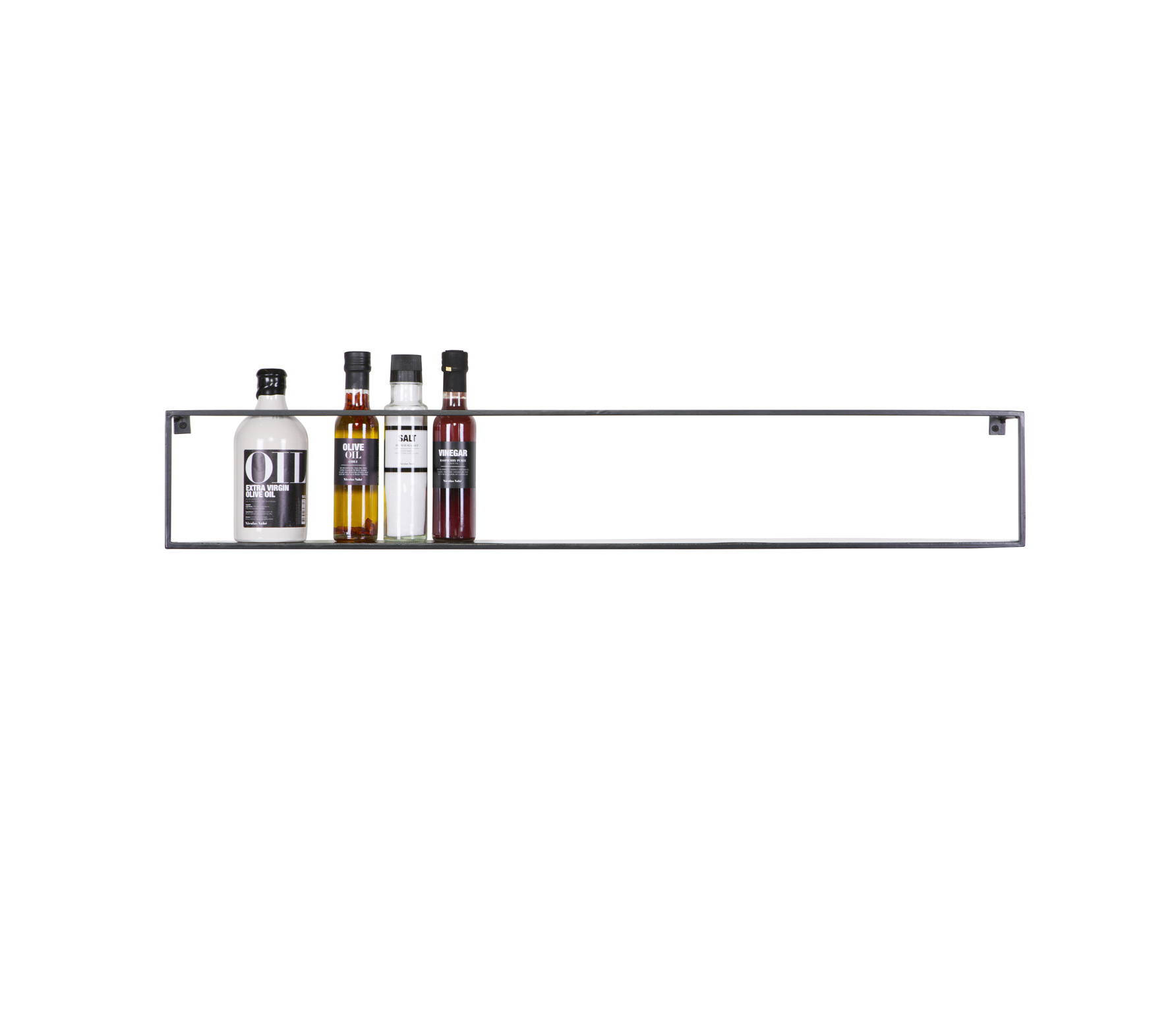 WOOOD Meert wandplank 100 cm zwart metaal