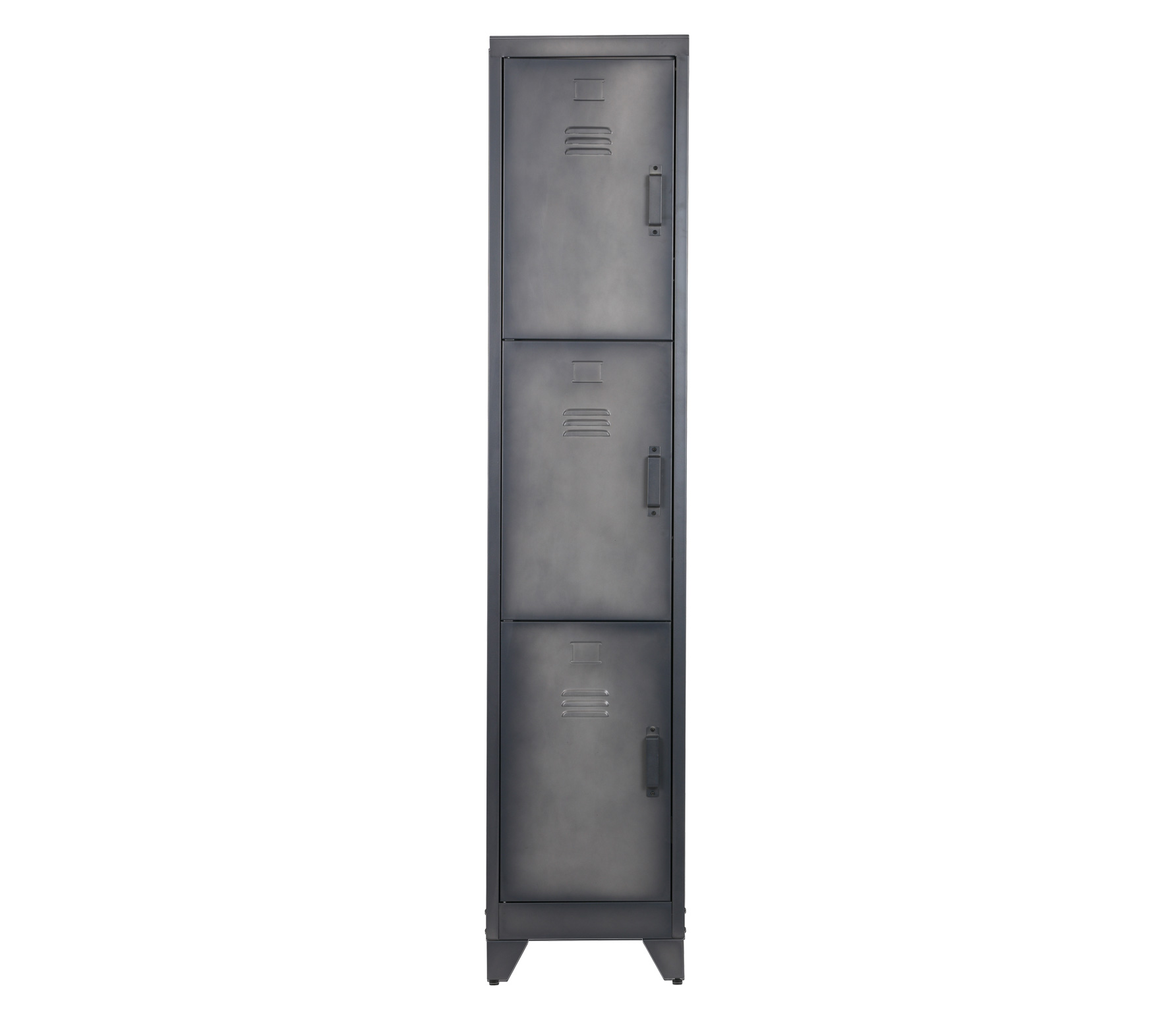WOOOD Cas metalen lockerkast 3-deurs (hxbxd) 180x38x46 cm Cas lockerkast zwart