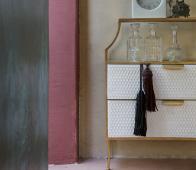 BePureHome Glamm ladekastje antique brass Glamm kastje met spiegels