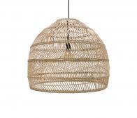 HKLiving Ball rieten hanglamp naturel, Ø 60 cm Naturel