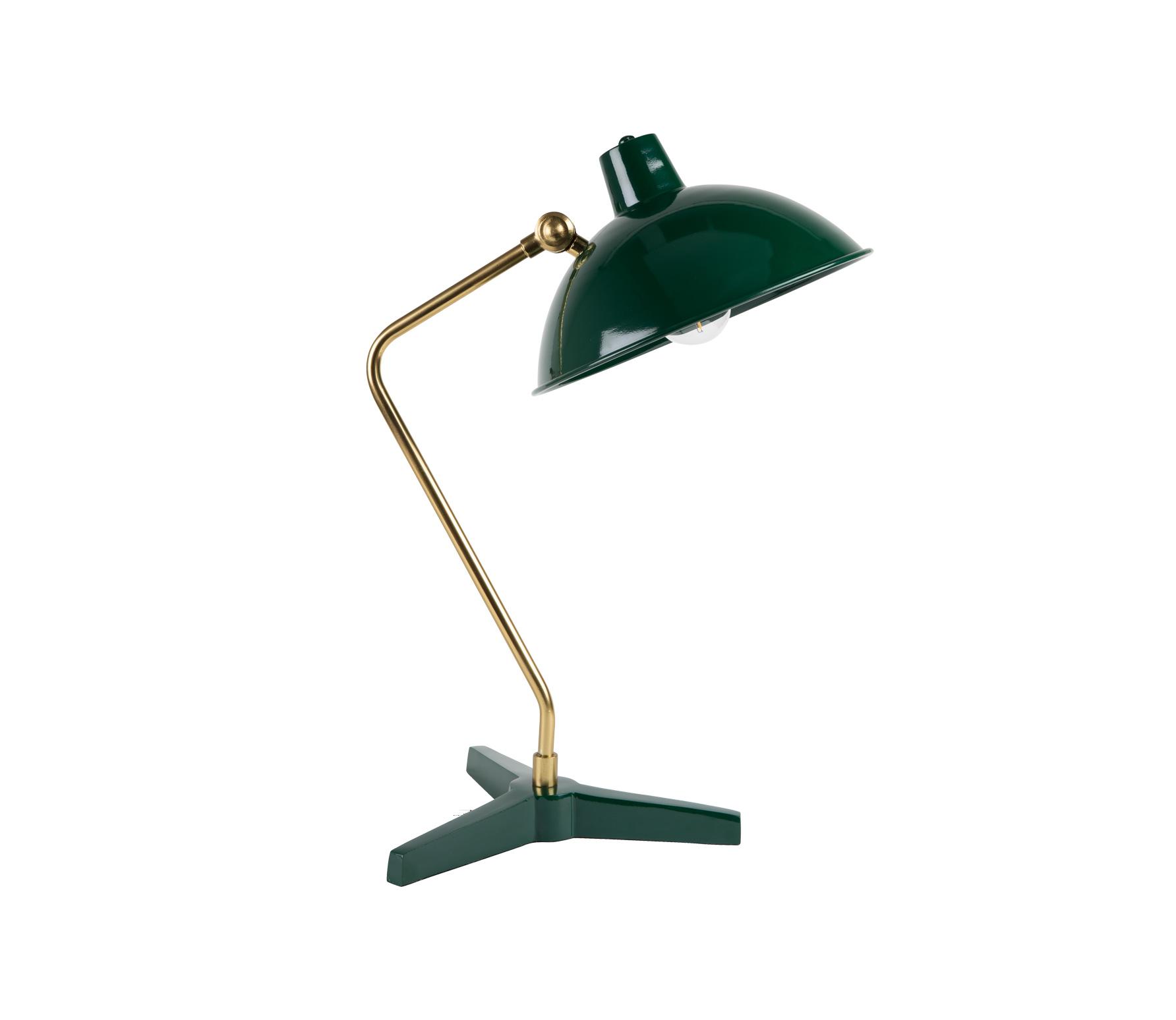 Dutchbone Devi bureaulamp groen Metaal