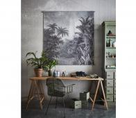 HKLiving XXL Jungle vintage schoolplaat 154x154 cm Canvas