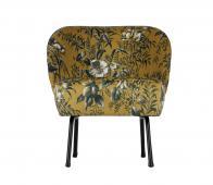 BePureHome Vogue fauteuil poppy mosterd Velvet