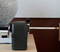 Office potlood puntenslijper metaal grijs Grijs