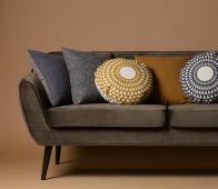 WOOOD Rocco 2,5 zits sofa velvet warm groen polyester