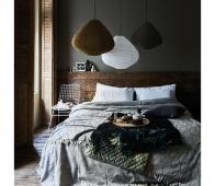 HKLiving Lampion hanglamp ø 65 cm groen  katoen